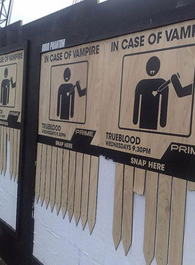 In case of vampire emergency