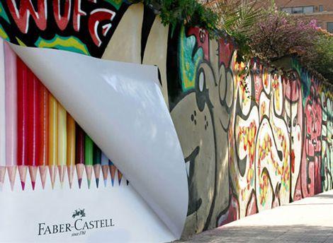 Graffiti ad for crayons