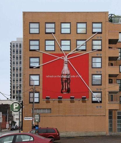 coca cola - billboard drinking buidlin