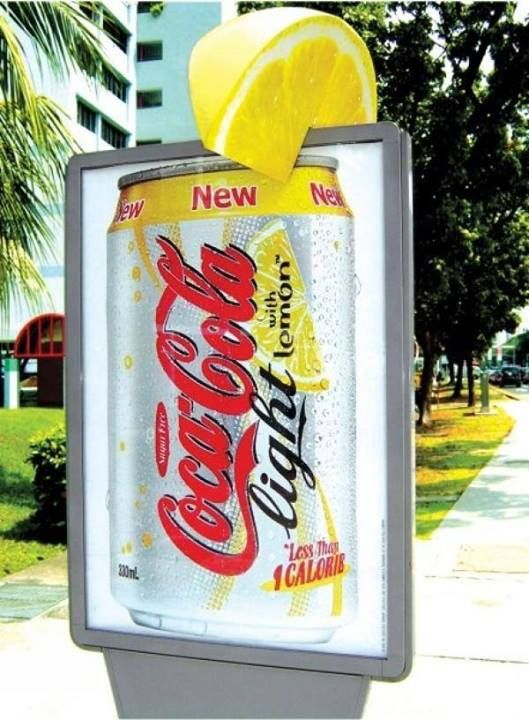 coco cola light with lemon