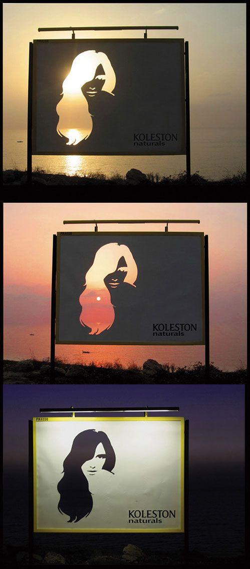 creative hair billboard