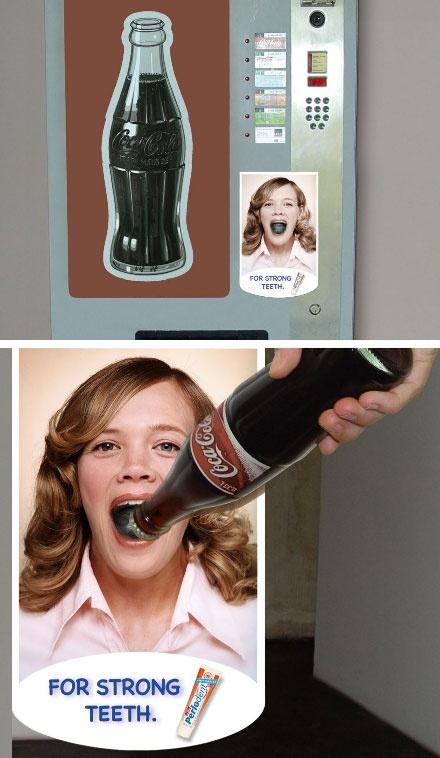 Bottle opener toothpaste commercial