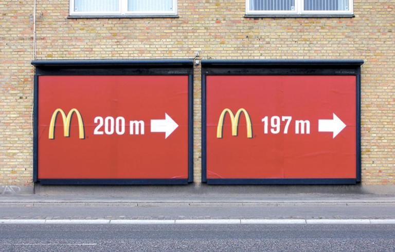 MC Donalds - 2 Billboard direction in meters