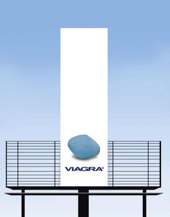 Pfizer - Viagra billboard goes up
