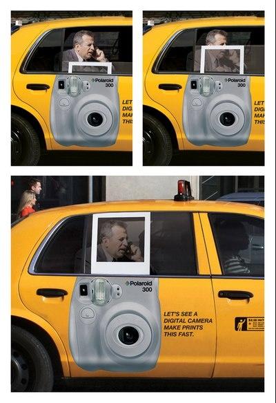 polaroid - taxi cab window