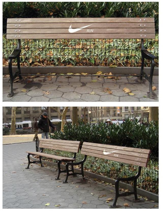 nike bench - guerilla marketing