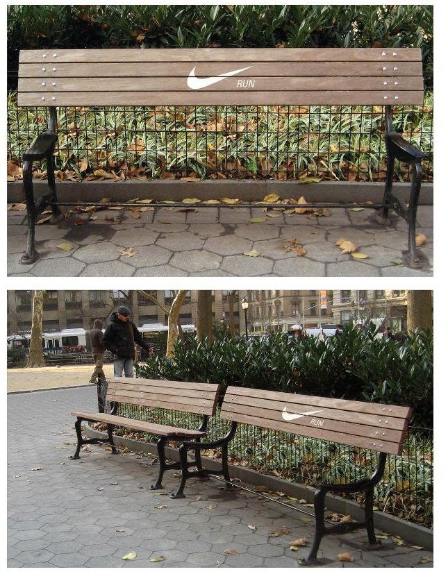 nike bench - guerilla marketing