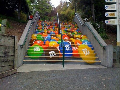 M&M's - happy stairs