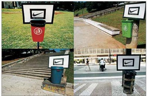 Nike - trash cans marketing