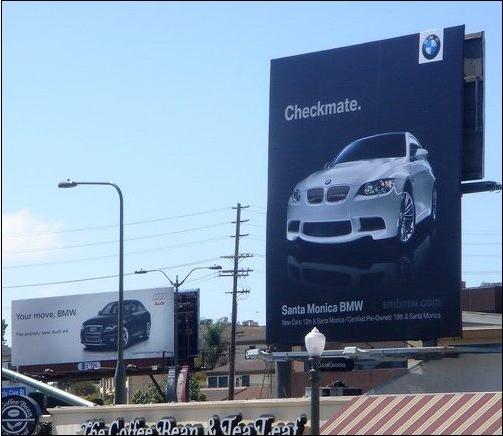 Audi bilboard vs BMW billboard