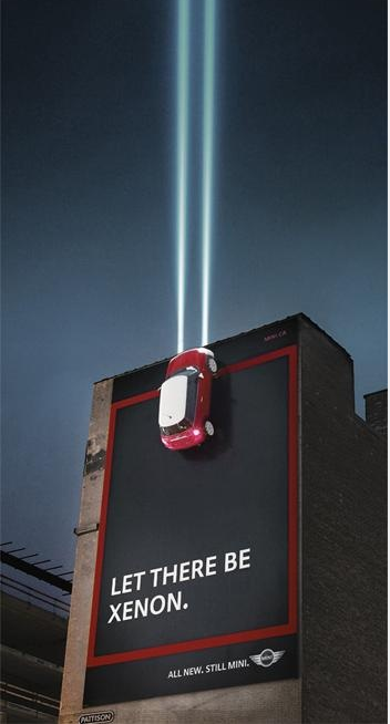 Mini Cooper - Xenon lighting billboard