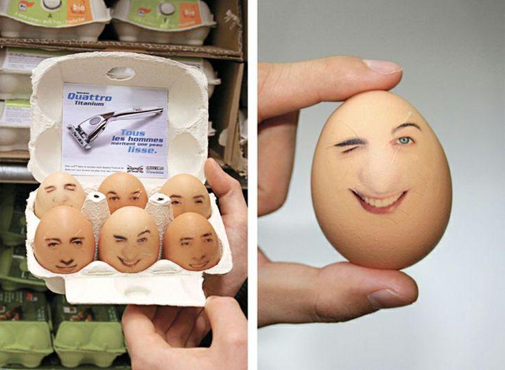 bald shaving egg