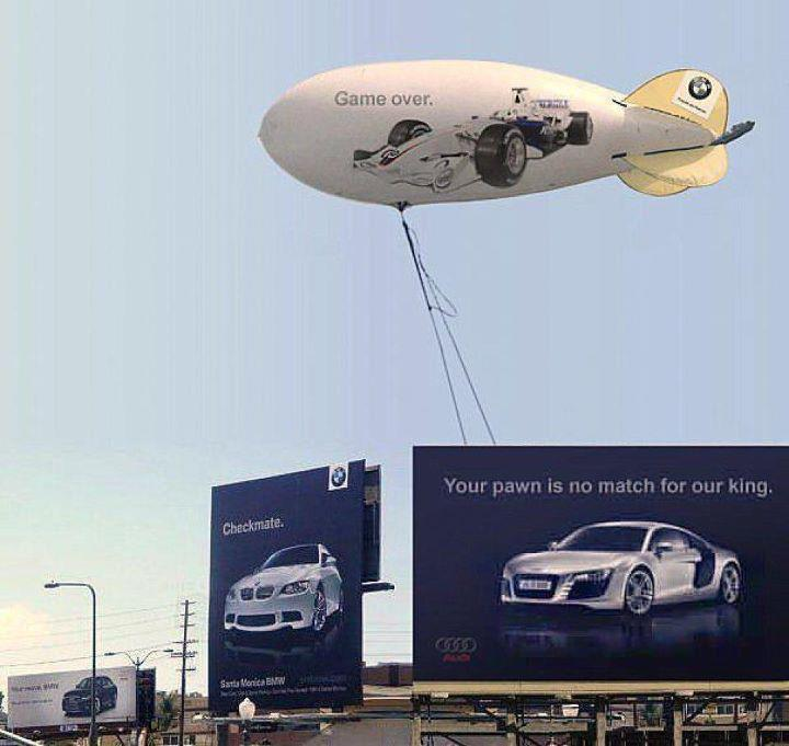 BMW Audi - Billboard Battle