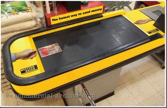 Western Union - conveyer belt