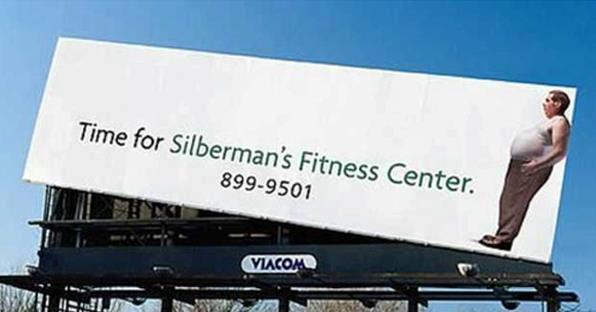 Fitness Centrum billboard