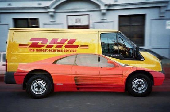 DHL - Ferarri on dhl van