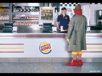 Roland MC Donald visiting Burger King