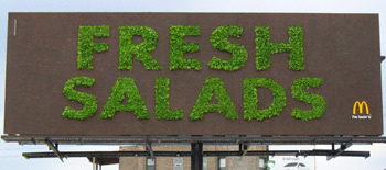 MC Donalds - Fresh Salad Billboard