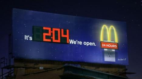 MC Donalds - Billboard Clock