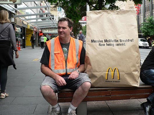 MC Donalds - Big Bag on bench
