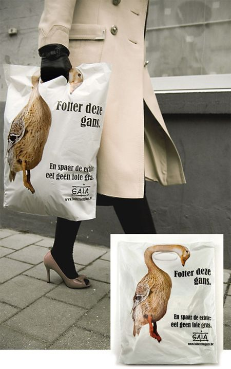 animal rights shopping bag