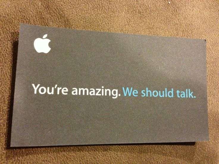 apple - creative bussiness card