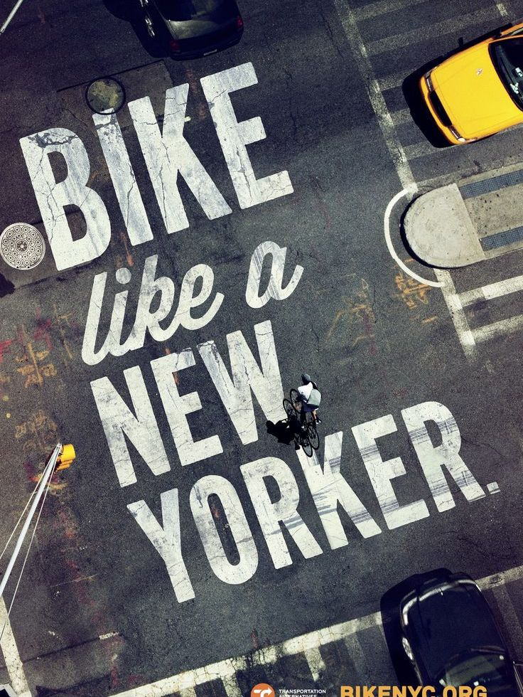 bike like a new yorker - street ad