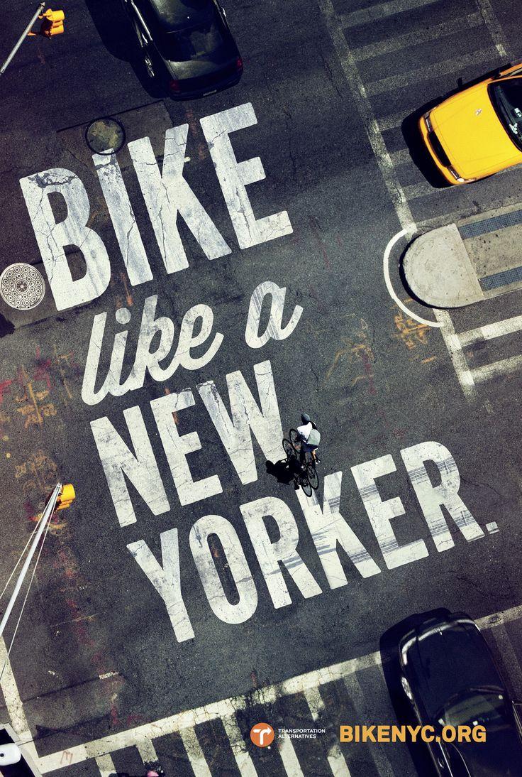 bike like a new yorker - street ad