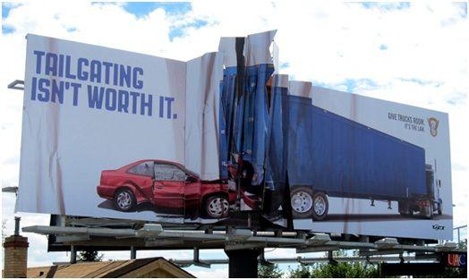 billboard marketing - tailgating isn't worth it