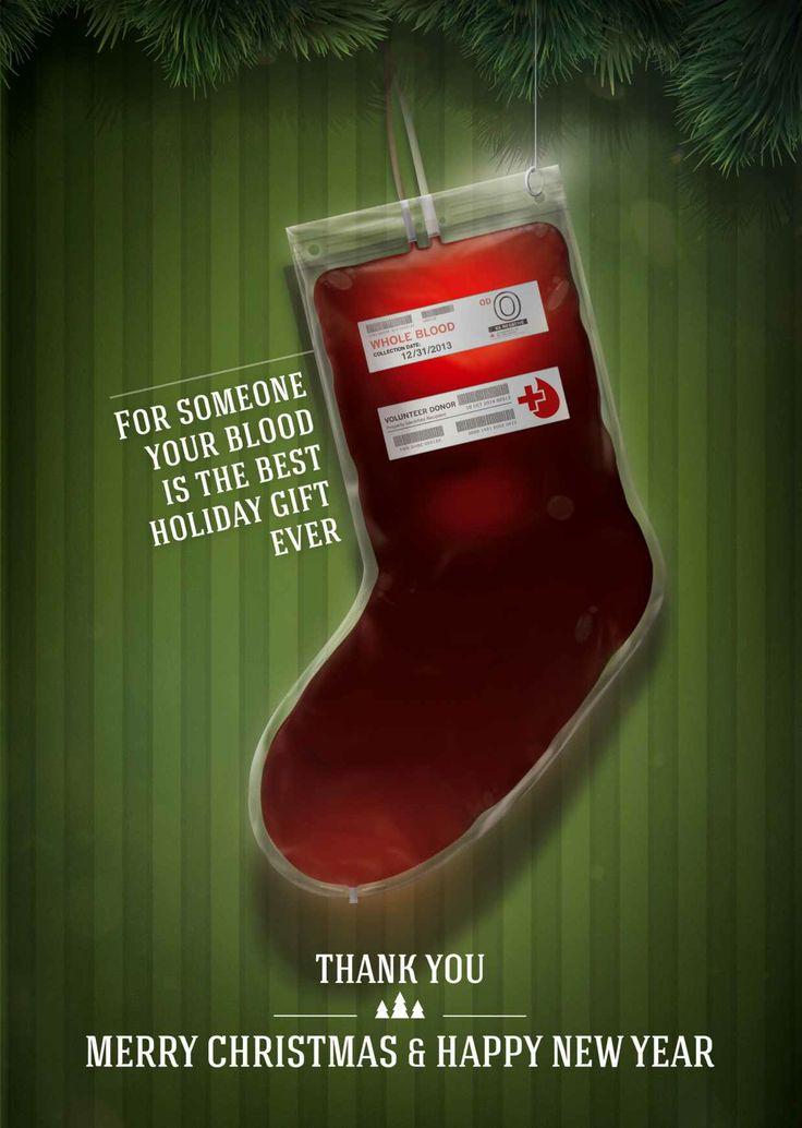 blood donation present ad