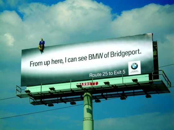 bmw billboard ad