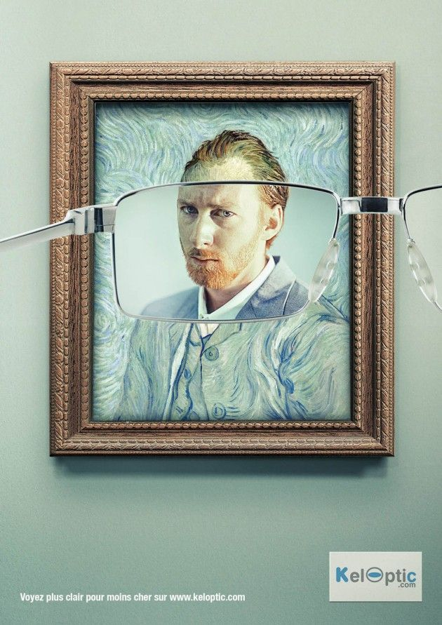 creative advertising - new glasses
