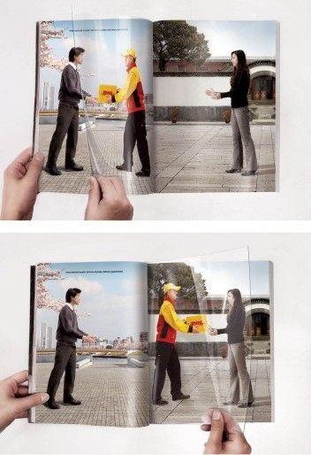 creative magazine ad dhl