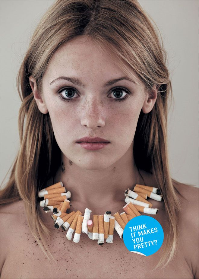 do no smoke ad - think it makes you pretty?