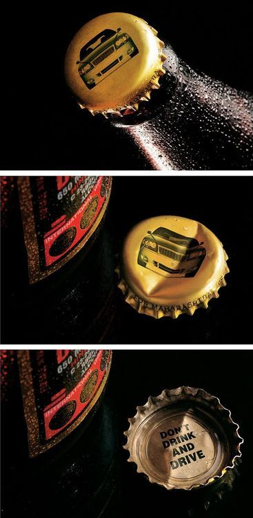 don't drink and drive - creative bottle marketing