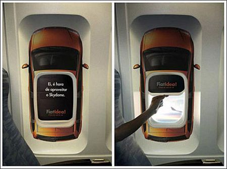 fiat marketing - window airplane