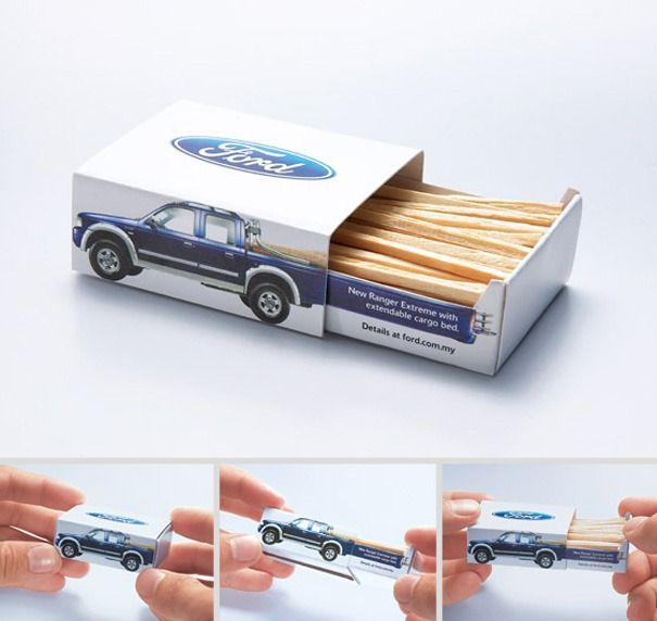 ford ad matchbox
