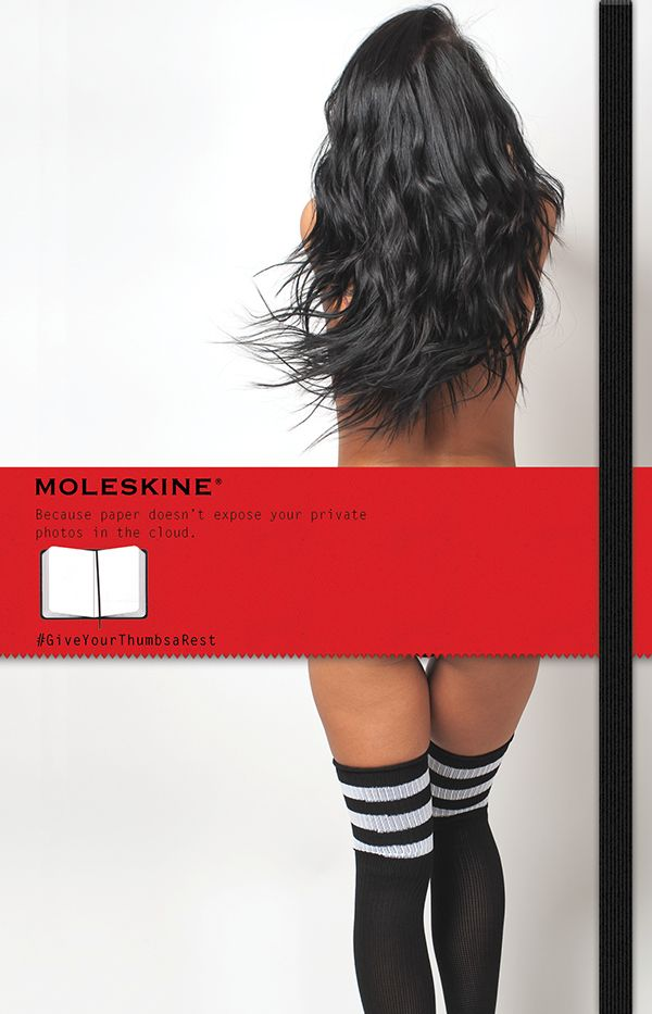 moleskine -ad- because paper doesn't expose your private photos in the cloud