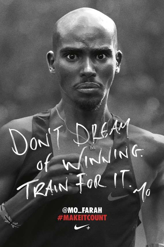 nike ad - don't dream of wining, train for it