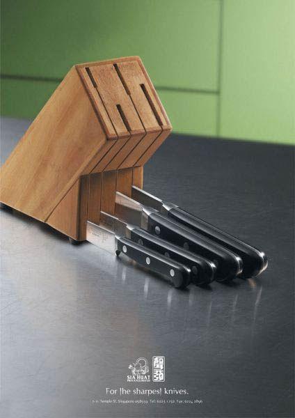 sharp knives in knife block