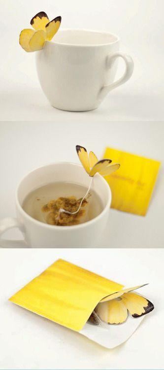 tea package butterfly